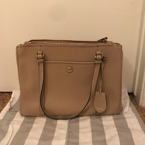 Coach Leather Taupe Medium Sized Tote